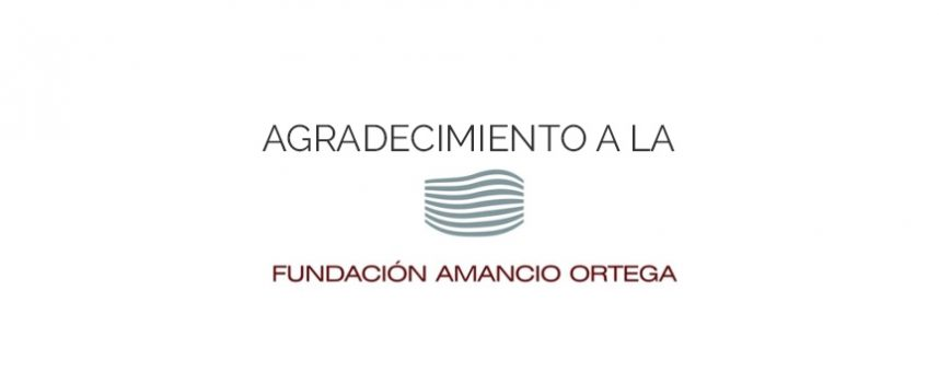 Agradecimiento Fundación Amancio Ortega